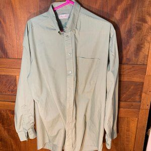 Woolworth button down long sleeve size 17/43
